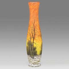 Daum Winter Scene Glass Vase by Daum - 460852