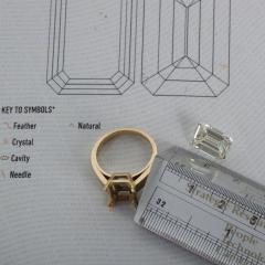 De Beers GIA Certified Emerald Cut Diamond 4 08 Carat - 1214638