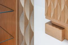 De Coene Brutalist Bar Cabinet in Oak by De Coene 1970s - 1104469