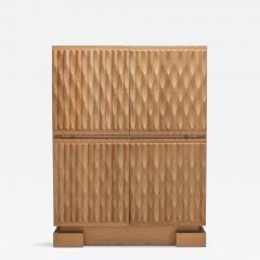 De Coene Brutalist Bar Cabinet in Oak by De Coene 1970s - 1104544