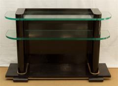 De Coene De Coene Fr res Art Deco Ebonized and Glass Console - 517758