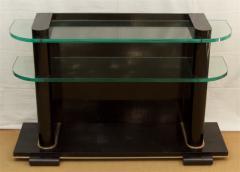 De Coene De Coene Fr res Art Deco Ebonized and Glass Console - 517760