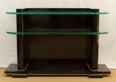 De Coene De Coene Fr res Art Deco Ebonized and Glass Console - 517761