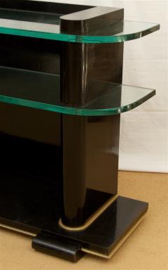 De Coene De Coene Fr res Art Deco Ebonized and Glass Console - 517762