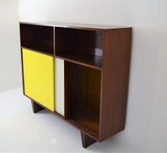 De Coene De Coene Mahogany Cabinet With Bookcase and Collored Sliding doors  - 987797