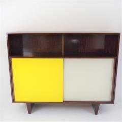 De Coene De Coene Mahogany Cabinet With Bookcase and Collored Sliding doors  - 987798