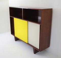 De Coene De Coene Mahogany Cabinet With Bookcase and Collored Sliding doors  - 987799