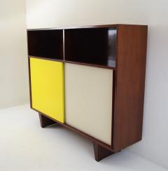 De Coene De Coene Mahogany Cabinet With Bookcase and Collored Sliding doors  - 987800