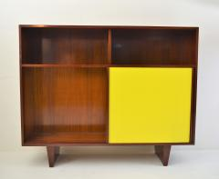 De Coene De Coene Mahogany Cabinet With Bookcase and Collored Sliding doors  - 987804