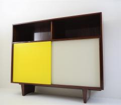 De Coene De Coene Mahogany Cabinet With Bookcase and Collored Sliding doors  - 987806