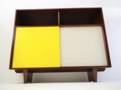 De Coene De Coene Mahogany Cabinet With Bookcase and Collored Sliding doors  - 987807