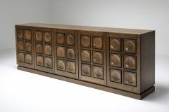 De Coene Graphical sideboard in oak 1970s - 1395244