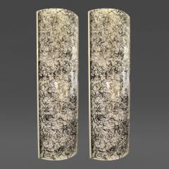 De Majo Pair of Large Glass Wall Sconces De Majo Italy 1950s - 32591