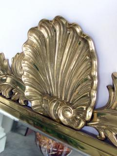 Decorative Crafts Inc A Good Quality Italian Hollywood Regency Brass Mirror By Decorative Crafts