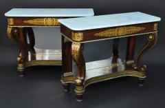 Deming Bulkley A Pair of Classical Pier Tables Attributed to Deming and Bulkley - 93600