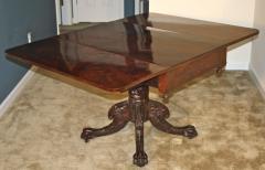 Deming Bulkley American Classical Drop Leaf Pedestal Table - 1467839