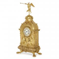 Deni re et Fils Antique Eclectic Style Gilt Bronze Clock Set by Henri Picard and Deni re et Fils - 1907403
