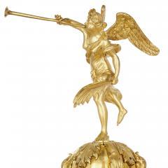 Deni re et Fils Antique Eclectic Style Gilt Bronze Clock Set by Henri Picard and Deni re et Fils - 1907404
