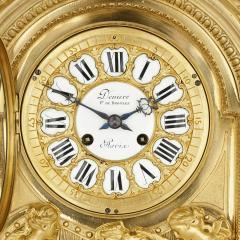 Deni re et Fils Antique Eclectic Style Gilt Bronze Clock Set by Henri Picard and Deni re et Fils - 1907407