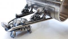 Derby Silver Company Turtle Pulling Cart Victorian Figural Napkin Ring Rare American Circa 1885 - 964872