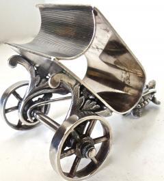 Derby Silver Company Turtle Pulling Cart Victorian Figural Napkin Ring Rare American Circa 1885 - 964875