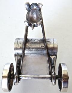 Derby Silver Company Turtle Pulling Cart Victorian Figural Napkin Ring Rare American Circa 1885 - 964877