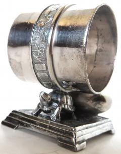 Derby Silver Company Victorian Silver Plate Turtle Napkin Ring Bud Vase American Circa 1880 - 677383