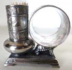 Derby Silver Company Victorian Silver Plate Turtle Napkin Ring Bud Vase American Circa 1880 - 677384