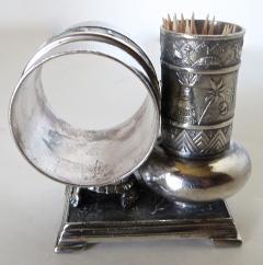 Derby Silver Company Victorian Silver Plate Turtle Napkin Ring Bud Vase American Circa 1880 - 677385