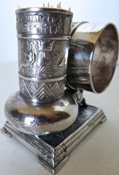 Derby Silver Company Victorian Silver Plate Turtle Napkin Ring Bud Vase American Circa 1880 - 677386