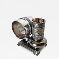 Derby Silver Company Victorian Silver Plate Turtle Napkin Ring Bud Vase American Circa 1880 - 761732