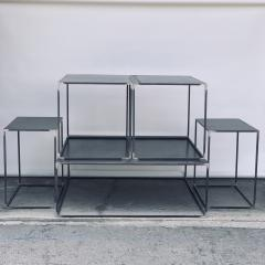 Design Fr res Complete Set of Filiforme Minimalist Patinated Steel Living Room Tables - 1409701