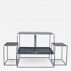 Design Fr res Complete Set of Filiforme Minimalist Patinated Steel Living Room Tables - 1411263