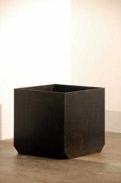 Design Fr res Cubiste Patinated Steel Plate Planter - 1062109