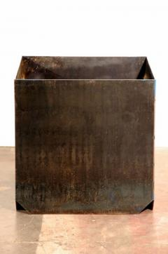 Design Fr res Cubiste Patinated Steel Plate Planter - 1062110
