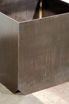 Design Fr res Cubiste Patinated Steel Plate Planter - 1062111