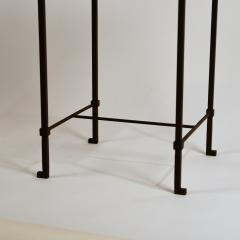 Design Fr res Diagramme Wrought Iron and Honed Travertine Drinks Table by Design Fr res - 1110681