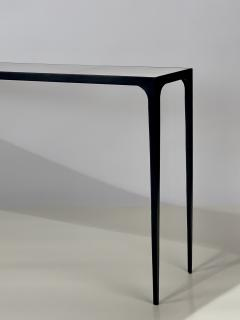 Design Fr res Extra long Esquisse Blackened Iron and Goatskin Console by Design Fr res - 1342894
