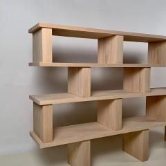 Design Fr res Four Shelves Verticale Polished Oak Shelving Unit - 1542439