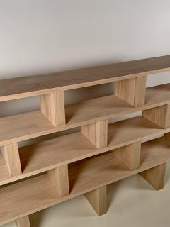 Design Fr res Four Shelves Verticale Polished Oak Shelving Unit - 1542443