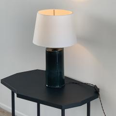 Design Fr res Glazed Ceramic Cylinder Lamp with Parchment Shade - 1633029