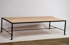 Design Fr res Long Diagramme Wrought Iron and Travertine Coffee Table by Design Fr res - 1176030