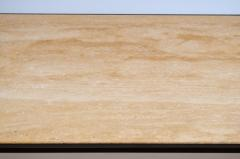 Design Fr res Long Diagramme Wrought Iron and Travertine Coffee Table by Design Fr res - 1176031