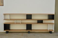 Design Fr res Low Black and White Horizontale Oak Shelving Unit - 923673