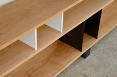 Design Fr res Low Black and White Horizontale Oak Shelving Unit - 923678