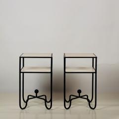 Design Fr res Pair of 2 Tier Entretoise Side Tables by Design Fr res - 1538632