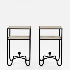 Design Fr res Pair of 2 Tier Entretoise Side Tables by Design Fr res - 1540170