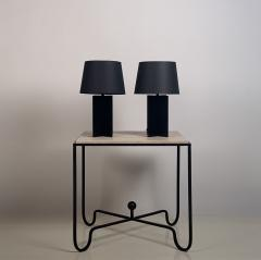 Design Fr res Pair of Blackened Steel and Black Paper Cuatrolados Lamps by Design Fr res - 1377867