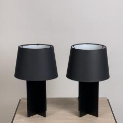 Design Fr res Pair of Blackened Steel and Black Paper Cuatrolados Lamps by Design Fr res - 1377875