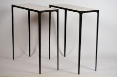 Design Fr res Pair of Chic Esquisse Wrought Iron and Parchment Consoles by Design Fr res - 1135497